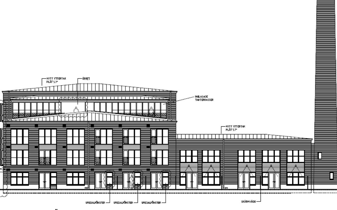 Ombyggnad till bostäder, fd industrianläggning (Utfört inom Tema Arkitekter)