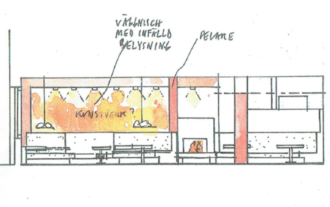 Ombyggnad, inredning Café Årummet Uppsala