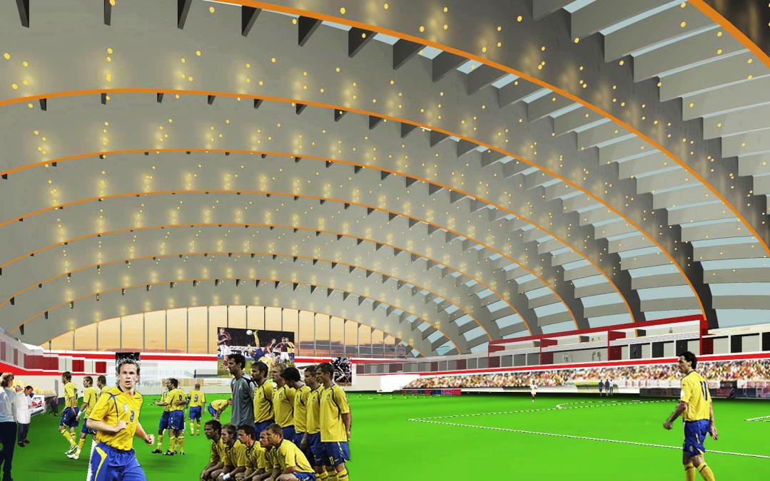 Sporthall Fullerö Uppsala (Utfört inom Tema Arkitekter)