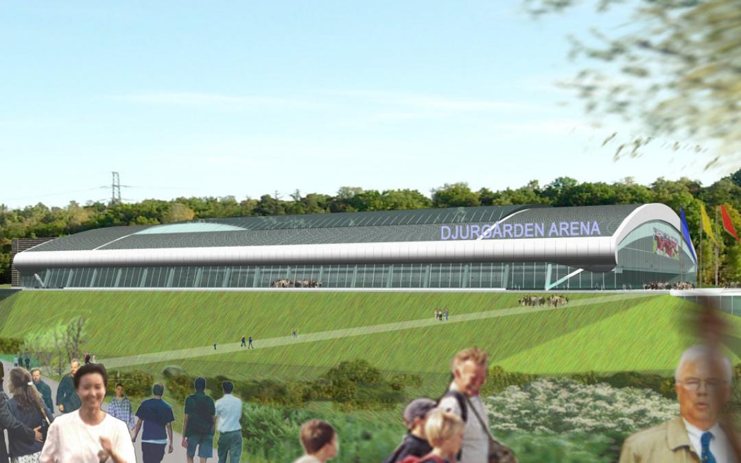 Ny fotbollsarena Djurgårdens IF, Storängsbotten Stockholm (Utfört inom Tema Arkitekter)