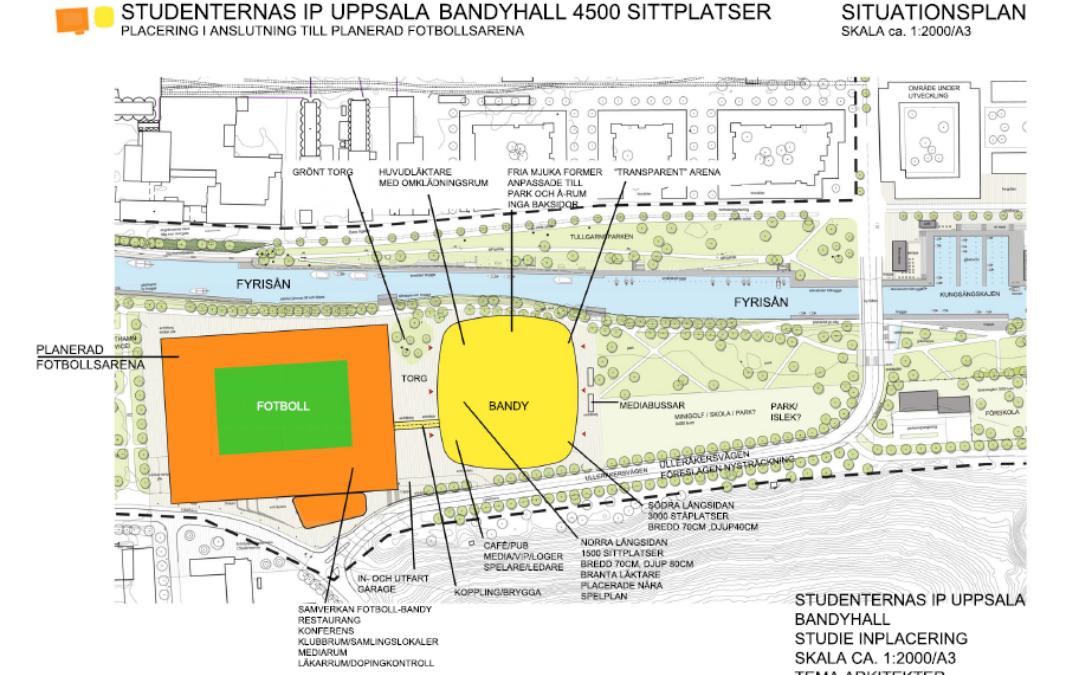 Bandyhall Studenternas IP Uppsala (Utfört inom Tema Arkitekter)
