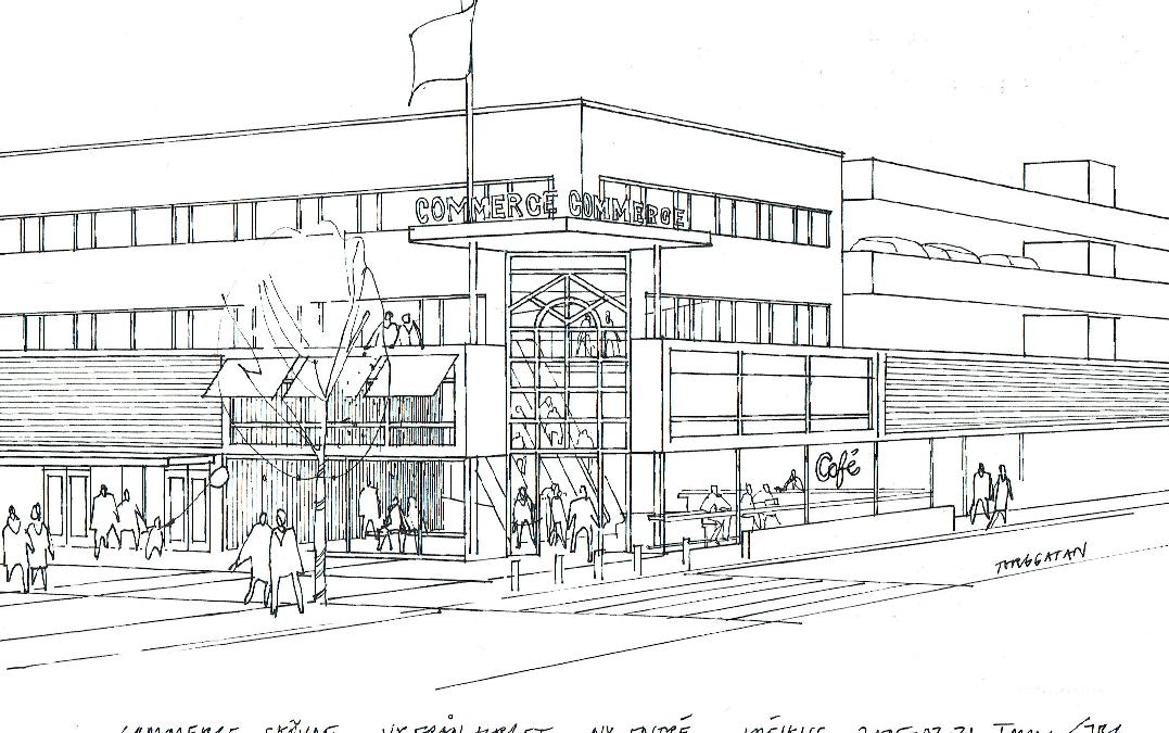 Ombyggnad galleria Commerce Skövde (Utfört inom Tema Arkitekter)